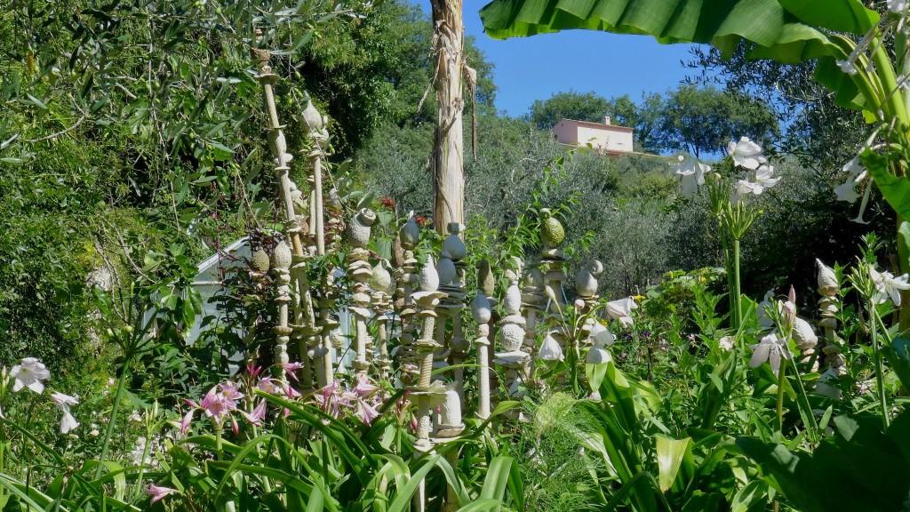 Le jardin de fleurs de poterie de Gattières - Domaine de Respelido